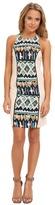 Kas Anemy Print Dress w/ Knit Sides