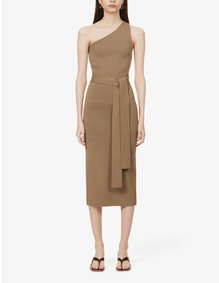 Bec & Bridge Lelani asymmetric knitted midi dress