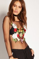 Forever 21 FOREVER 21+ Floral Embroidered Bodysuit