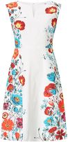 Adrianna Papell Petite Floral trimmed fit and flare dress