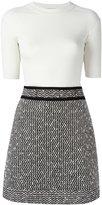 Carven bicolour dress - women - Viscose/Cotton/Polyamide - L