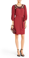 Diane von Furstenberg Jadey Cutout Dress In New Aubergine/ Deep Cherry