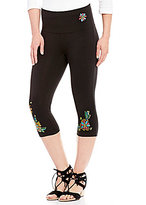 Westbound Petites the PARK AVE fit Floral Embroidered Skimmer Legging