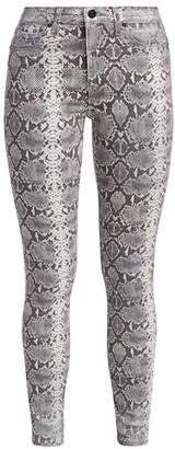 Hudson Barbara High-Rise Skinny Python Jeans