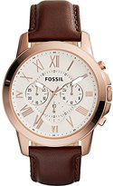 Fossil Men's FS4991 Grant Chronograph Leather Watch - Brown