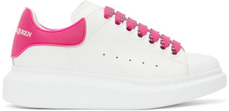 Alexander McQueen White and Pink TPU Oversized Sneakers