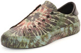 Valentino Tie-Dye Leather Laceless Sneaker, Olive