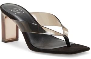INC International Concepts Inc Women's Myrene Vinyl Toe-Thong Sandals, Created for Macy's Women's Shoes