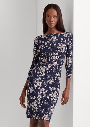 Ralph Lauren Floral Ruched Jersey Dress