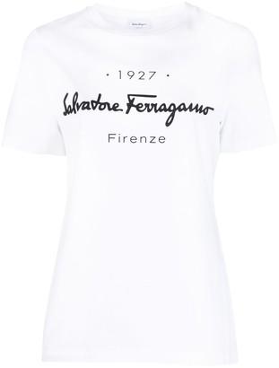 Salvatore Ferragamo logo-print cotton T-shirt