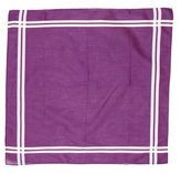 Hermes Striped Square Handkerchief