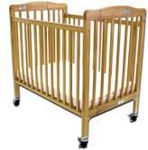L.A. Baby Pocket Crib Portable Folding Wood Crib by