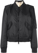 As65 - fur lined bomber - women - Polyamide/Viscose/Coyote Fur/Polyester - M