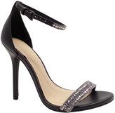 Wild Diva Black Glitter Adele Sandal