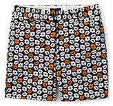 "Lands' End Women's Plus Size Mid Rise 7"" Chino Shorts-Phipps Orange Floral"
