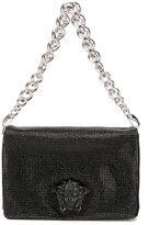 Versace Sulthan crystal shoulder bag - women - Swarovski Crystal/Calf Suede - One Size