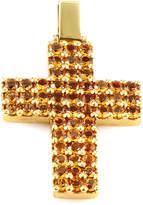 Generic Gemstones 18K 5.00 Ct.Tw. Citrine Cross Pendant