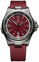Victorinox 241717 Night Vision Rubber Strap Watch, Red