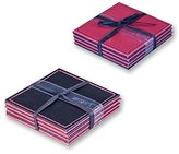 Anika Reversable Coasters, Pack of 4, Black/Red