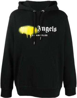 Palm Angels Los Angeles sprayed logo hoodie