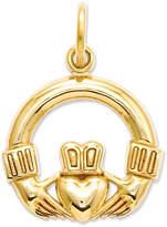 Macy's 14k Gold Charm, Claddagh Charm