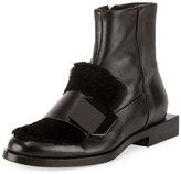 Pierre Hardy Hardy Dandy Fur-Trim Boot, Black