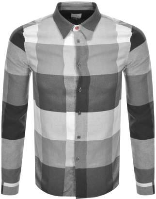 Paul Smith Long Sleeved Check Shirt Grey