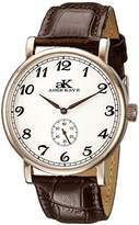 Adee Kaye Men's AK9061N-MRG/SV Vintage Mechanical Analog Display Mechanical Hand Wind Brown Watch
