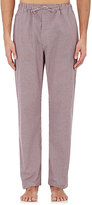 Barneys New York Men's Micro-Checked Cotton Poplin Pajama Pants