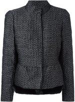 Armani Collezioni layered jacquard jacket