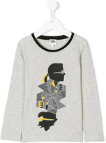 Karl Lagerfeld printed top