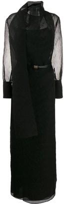 Fendi FF Karligraphy belted dress