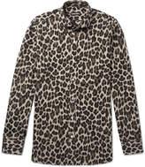tom ford leopard printed woven shirt herren. Black Bedroom Furniture Sets. Home Design Ideas