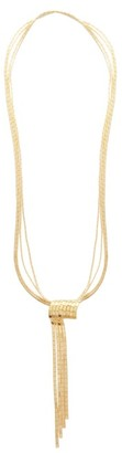 Bottega Veneta Scarf 18kt Gold-plated Sterling-silver Necklace - Yellow Gold