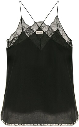 Zadig & Voltaire Zadig&Voltaire lace-detail camisole top