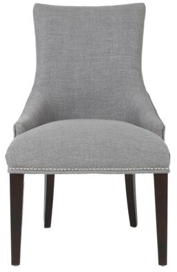 Canora Grey Mcgowan Wooden Upholstered Dining Chair Upholstery Color: Gray