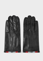 Thumbnail for your product : Paul Smith & Manchester United - Black Leather Gloves