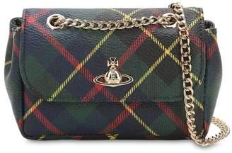 Vivienne Westwood Derby Mini Coated Canvas Shoulder Bag