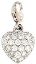 Cartier 18K Diamond Heart Charm
