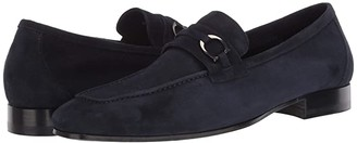 Canali Goat Suede Loafer (Blue) Men's Shoes