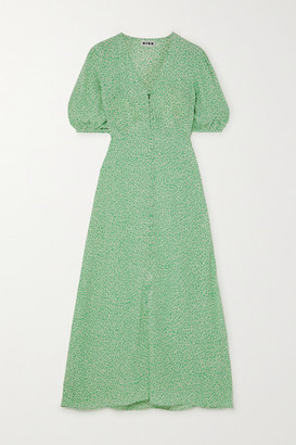Rixo Staci Floral-print Voile Maxi Dress - Mint