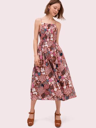 Kate Spade Garden Posy Midi Dress