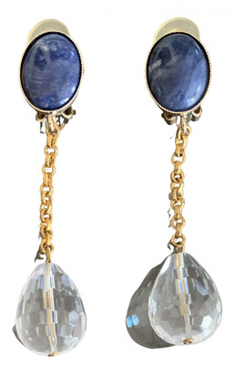 Philippe Ferrandis Gold Crystal Earrings