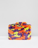 House of Holland Camo Clutch Bag