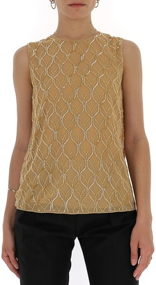 Max Mara Beaded Sleeveless Top