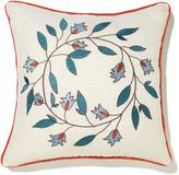 Minnie Driver Amelia Embroidered Decorative Linen Pillow