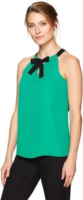 Ellen Tracy Women's Tie Neck Halter