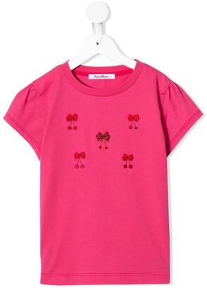 Familiar bow-embellished T-shirt