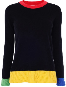 Jane Says - Rudi Knit Jumper - S - Black/Red/Yellow