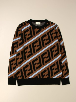 Fendi Sweater With All Over Ff Logo